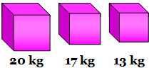 What is the total weight of these three packages