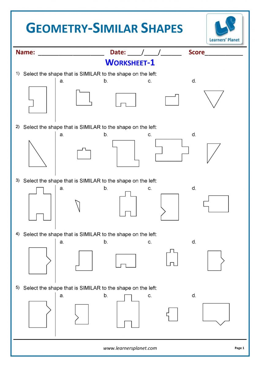 Geometry worksheets PDF download for practice and study class 3