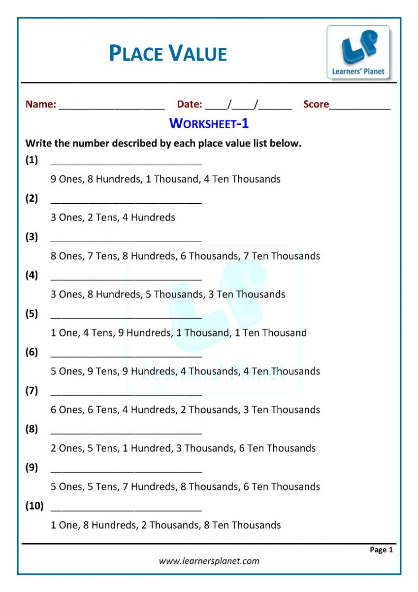 - Class Three Math Place Value Interactive Quiz, Recorded Session