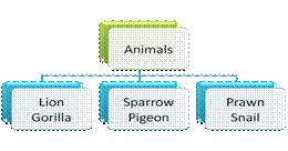 group of animals chart for grade 3 science