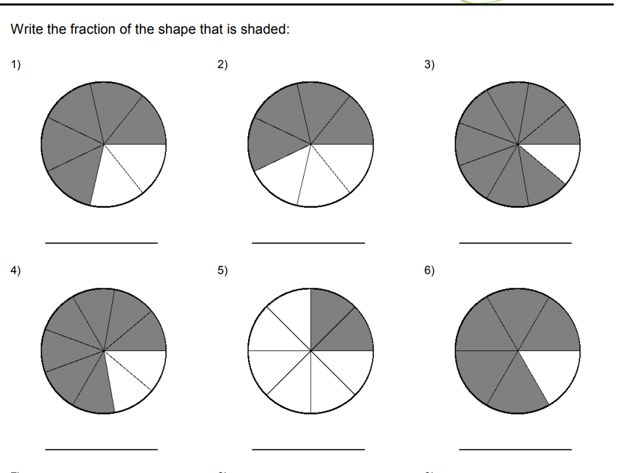 2nd grade fractions worksheets for CBSE maths