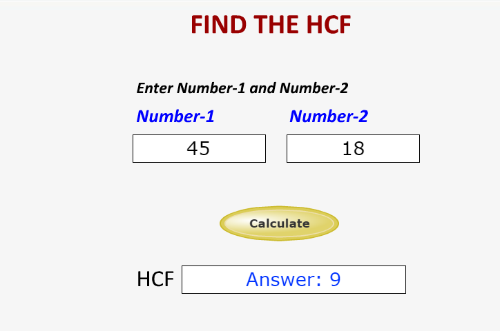 how to find hcf of given numbers