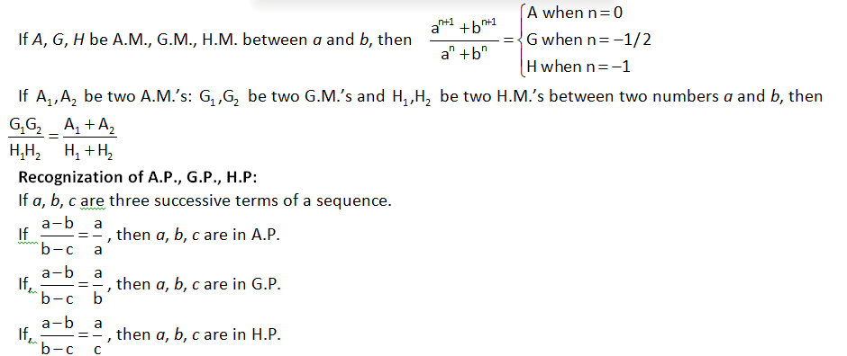 properties of AP, GP