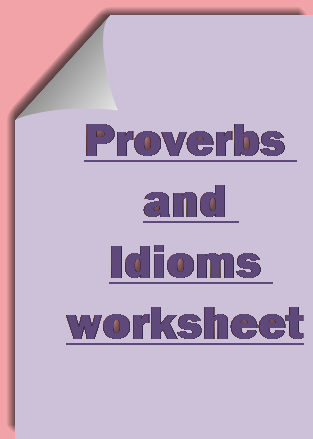 free 4th grade english Idioms & Proverbs worksheets